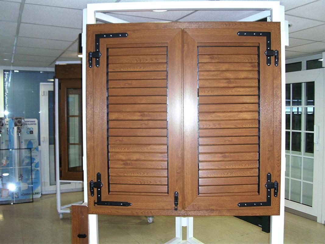 Contraventanas de madera precios for Precio zapateros de madera